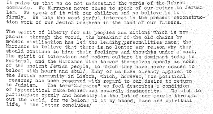 letter to the chief rabi in Jerusalem 22 august 1924 part 2
